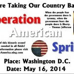 "PRESS RELEASE: **OPERATION AMERICAN SPRING**""UNARMED, NON-VIOLENT PEACEFUL PRESENCE"""