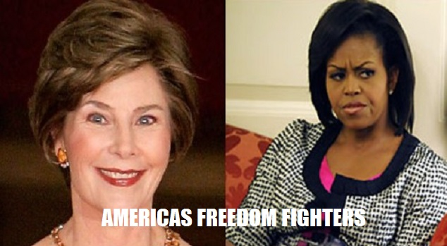 LAURA BUSH VS. MICHELLE OBAMA-CLASS VS. TRASH!