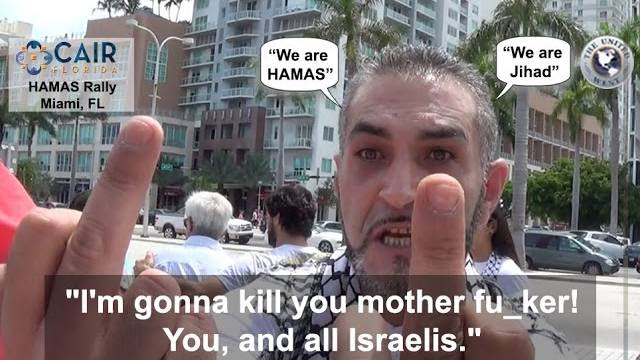 [WATCH] MIAMI- VIOLENT HAMAS SUPPORTERS ATTACK JEWISH REPORTER!