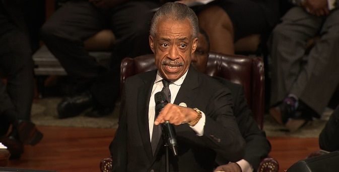 [WATCH] AL SHARPTON SCREAMS AT MICHAEL BROWN EULOGY!
