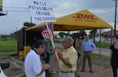 5 PROTESTERS SHOW UP AT BORDER PROTEST-THREATENED BY CARTEL!
