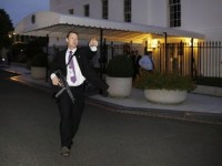 MAN JUMPS WHITE HOUSE FENCE, REACHES DOORS, NO ONE HOME! (ON VACATION!)