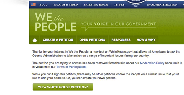 OUTRAGEOUS! WHITE HOUSE DELETES PETITION TO STOP EBOLA!