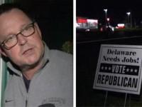 DEMOCRAT SENATOR'S HUSBAND CAUGHT STEALING REPUBLICAN CAMPAIGN SIGNS ON VIDEO!