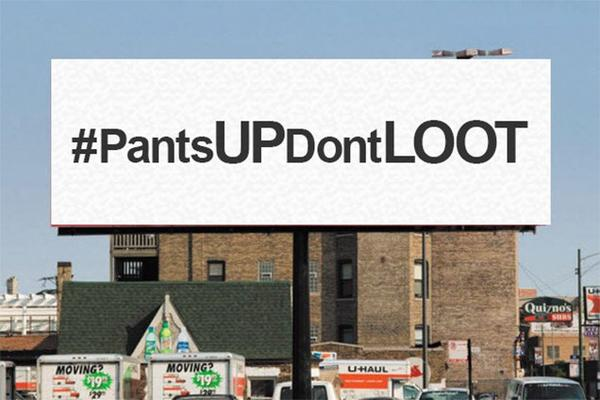 """DARREN WILSON """"PANTS UP DON'T LOOT"""" BILLBOARD CAUSING 'CONTROVERSY!'"""