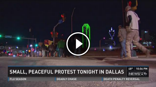 [WATCH] OPEN CARRY ADVOCATES 'SHADOW' FERGUSON PROTESTERS IN DALLAS!