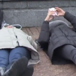 COLLEGE PROTESTERS CHECK THEIR PHONES DURING FERGUSON DIE-IN! [VIDEO]