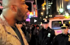 [WATCH!] 1 MARINE VS. 30 COPS! SHOUTS OUT AGAINST POLICE BRUTALITY!