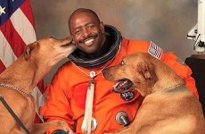 LOOK WHO THIS ASTRONAUT HAS IN HIS NASA PORTRAIT!