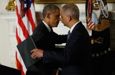 WATCH OBAMA CRYING AS HE SAYS GOODBYE TO ERIC HOLDER!