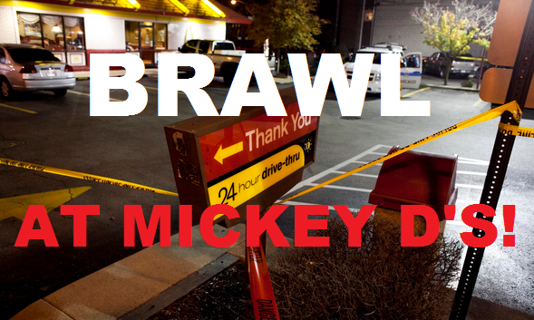 [WATCH!] Another MASSIVE Brawl At McDONALD'S!