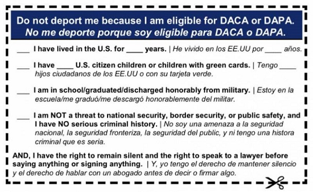 "HOUSE DEM WANTS ILLEGAL ALIENS TO CARRY A ""PLEASE DO NOT DEPORT ME CARD!"""