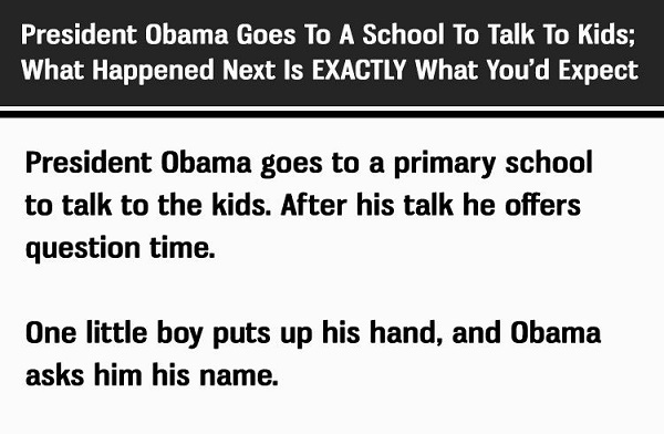 Obama Talks To Some School Kids: What Happened Next Was Unexpected…