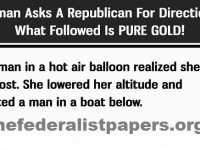 Democrat Asks A Republican For Directions, What Followed Is PURE GOLD!
