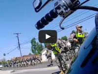 MARTIAL LAW: Armed National Guard Troops Patrol Residential Streets In California