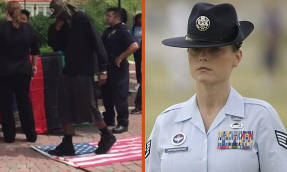 Flag Hating Liberals Get A Big Surprise When This Veteran Takes Matters Into Her Own Hands…