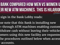 This Bank Sign Perfectly Explains The Difference Between Men And Women… This Is Golden