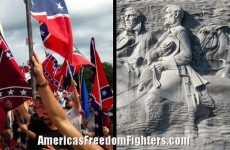 Hundreds Of Patriots Attend Pro-Confederate Flag Rally At Stone Mountain Memorial
