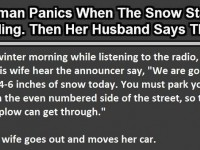 She Panics When The Snow Starts Falling… Then Her Husband Said THIS