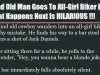 Blind Old Man Goes To All-Girl Biker Bar… What Happens Next Is HILARIOUS