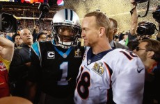 What Cam Newton Did To Peyton Manning After The Super Bowl Has Internet On FIRE