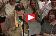 WATCH: WWII Vet Asks Trump THIS Question… Audience STUNNED By Response