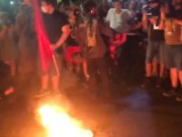 Bernie Bro Protesting At DNC Tries To Stomp Burning Flag, Gets NASTY Surprise Instead