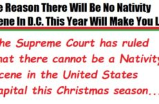 The Reason There Will Be No Nativity Scene In D.C. This Year Will Make You LOL!