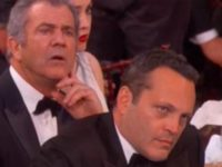 Internet ERUPTS When People Spot What Vince Vaughn & Mel Gibson Did During Streep's Anti-Trump Speech…