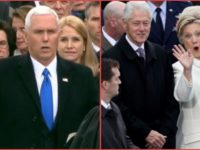 People Can't Stop Talking About What Happened To Hillary During Pence's Swearing In, Did You Catch It?