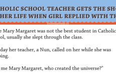 Catholic School Teacher Gets The Shock Of Her Life When Girl Replied With This!