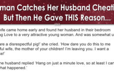 Woman Catches Her Husband Cheating- But Then He Gave THIS Reason…