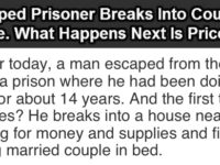 Escaped Prisoner Breaks Into Couple's Home, What Happens Next Is Priceless!