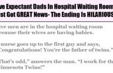 Five Expectant Dads In Hospital Waiting Room Just Got GREAT News- The Ending Is HILARIOUS!