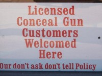 57,000 BUSINESSES FIGHT BACK, POST 'GUNS WELCOME' SIGNS ON FRONT DOOR!