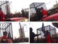 "ISIS PARADES CAGED PRISONERS FOR ""CAGE BURNING"" FESTIVAL! (Video)"