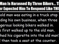 Old Man Is Harassed By Three Bikers… What He Did Next Is PRICELESS!