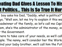 A Cheating Dad Gives A Lesson To His Son About Politics… This Is HILARIOUS!