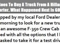 Man Goes To Buy A New Truck From A Hillary Supporter But What Happened Next Is PRICELESS…