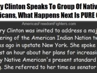 Hillary Clinton Speaks To Group Of Native Americans… What Happens Afterwards Is PRICELESS