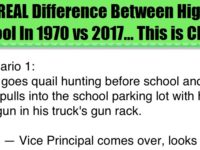 The REAL Difference Between High School In 1970 vs 2017… This is CRAZY!