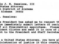 HOLY HELL! 1993 Clinton Letter To Jeff Sessions SURFACES- What It Says Has Media In PANIC MODE