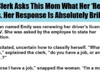DMV Clerk Asks This Mom What Her 'Real Job' Is. Her Response Is Absolutely BRILLIANT!