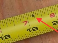 Ever Wonder What This Mysterious Diamond Is On Your Tape Measure? Here's What It Means