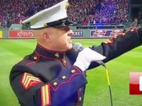 WATCH: This Marine Took The Mic Then Immediately Sent Shivers Down EVERYONE'S Spine