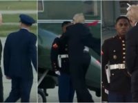 WATCH: President Trump Sees Marine Having Trouble Before Boarding Marine One- Immediately Starts RUNNING Down Runway